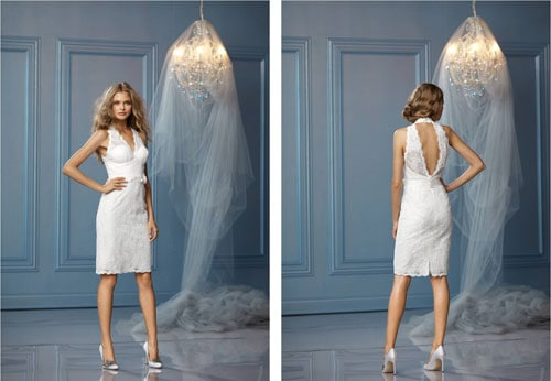 Chiffon WTOO casual beach wedding dress