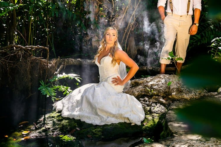 cenote underwater trash the dress photo shoot-011