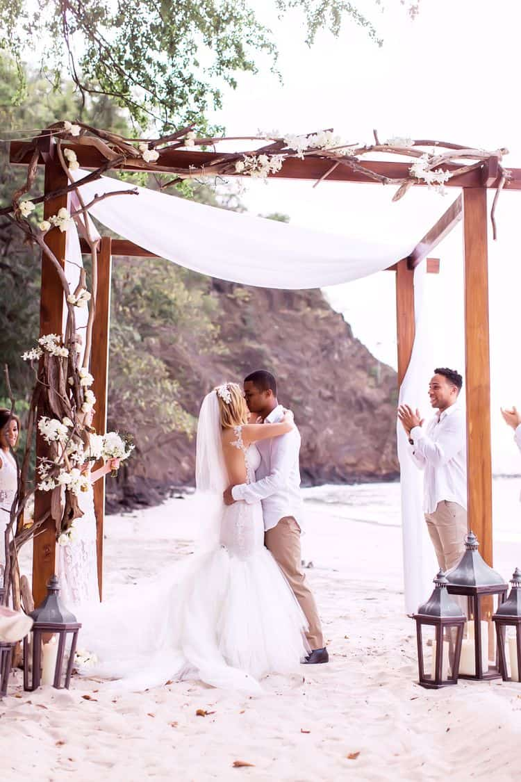 White Beach Wedding in Costa Rica