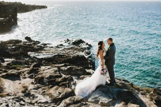 Cliffside Beach Wedding in Hawaii