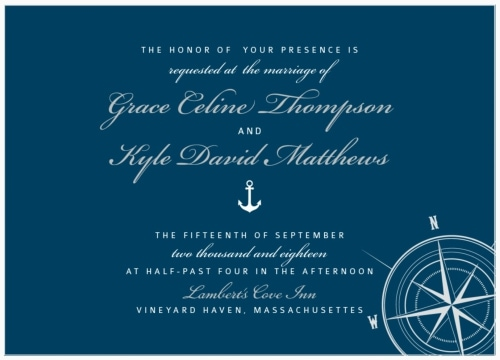 compass destination wedding invitation
