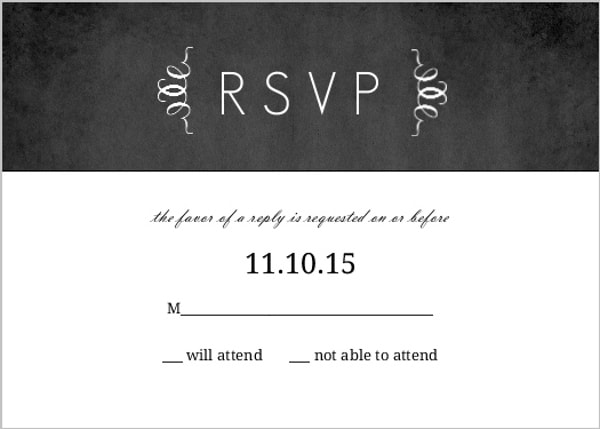 destination invitation RSVP deadline