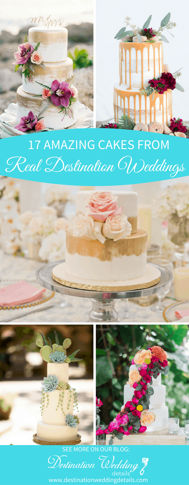 destination wedding cake designs