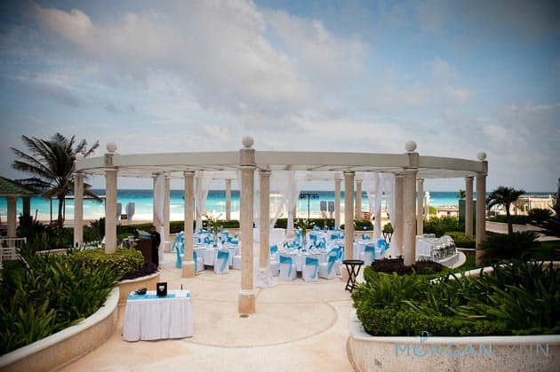 cancun wedding gazebo sandos