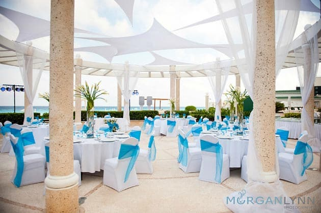 cancun wedding gazebo decoration