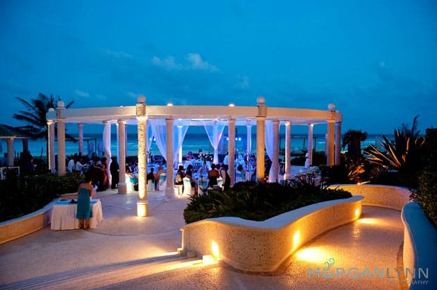 Cancun wedding in glass chapel destination wedding details for Best place for beach wedding