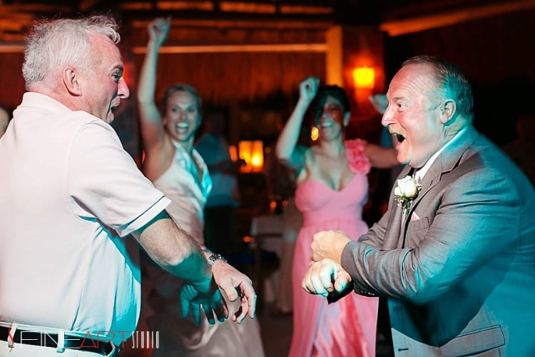 destination wedding dancing