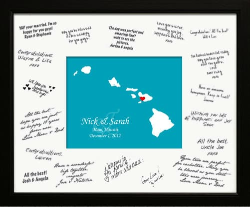 Destination Wedding Guest Book Alternative Ideas