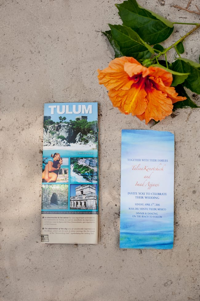 Tulum wedding invitations
