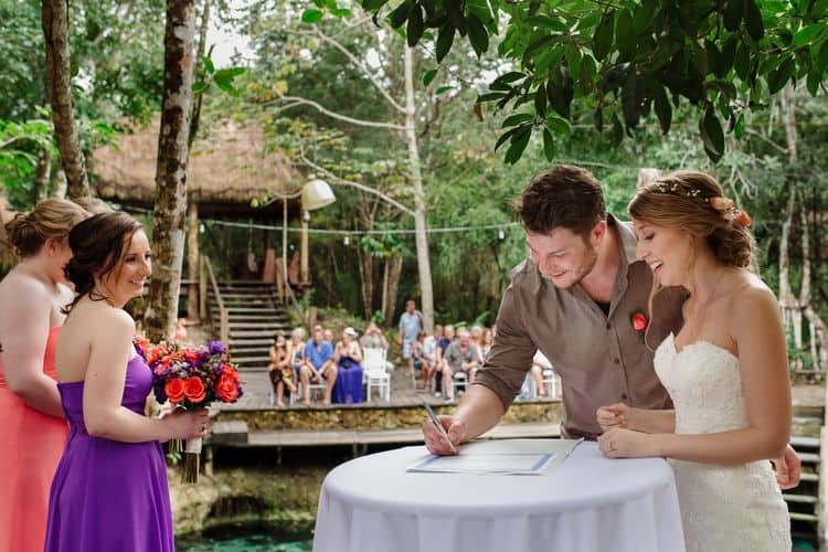 destination wedding in tulum cenote 50
