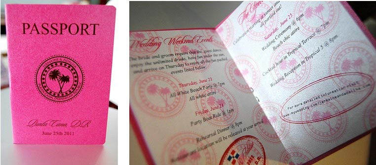 When To Send Out Wedding Invitations For Destination Wedding: Unique Destination Wedding Invitation Ideas