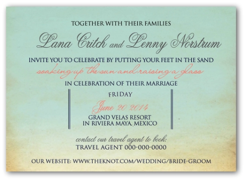 destination wedding invitation wording example 3 - Wedding Invitation Wording Together With Their Parents