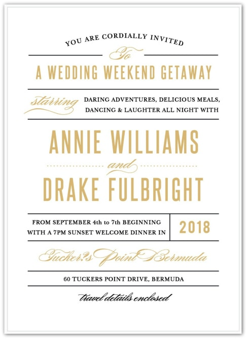 destination wedding invitation wording example elegant