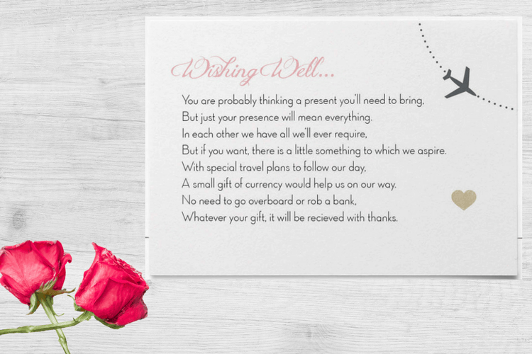 destination wedding invitation wording example for gifts - Wedding Invitation Wording Etiquette