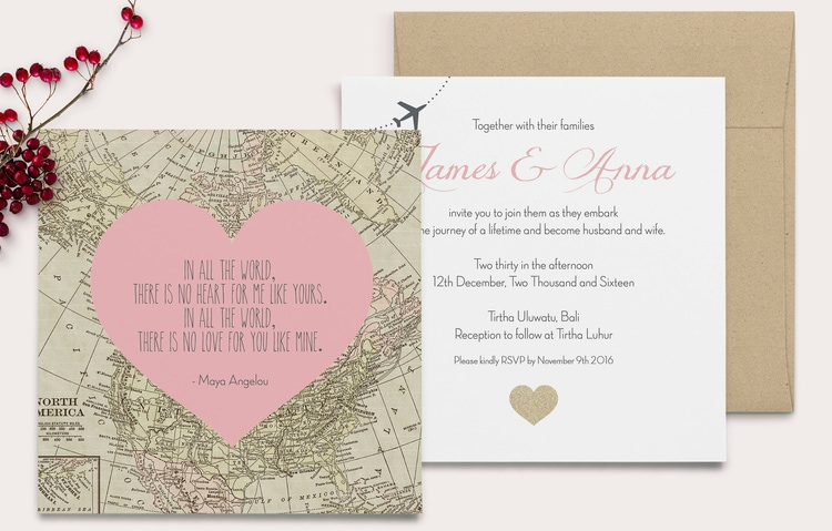 destination wedding invitation wording example