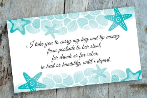destination wedding key card design