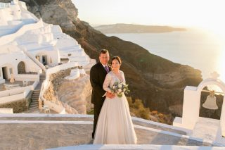 Destination Wedding in Santorini with Spectacular Views