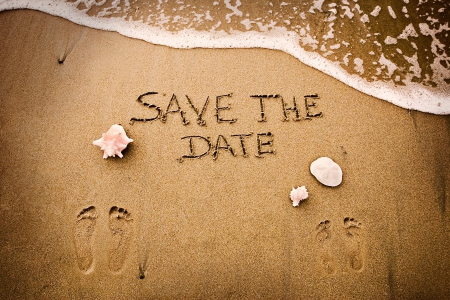destination wedding save the date ideas