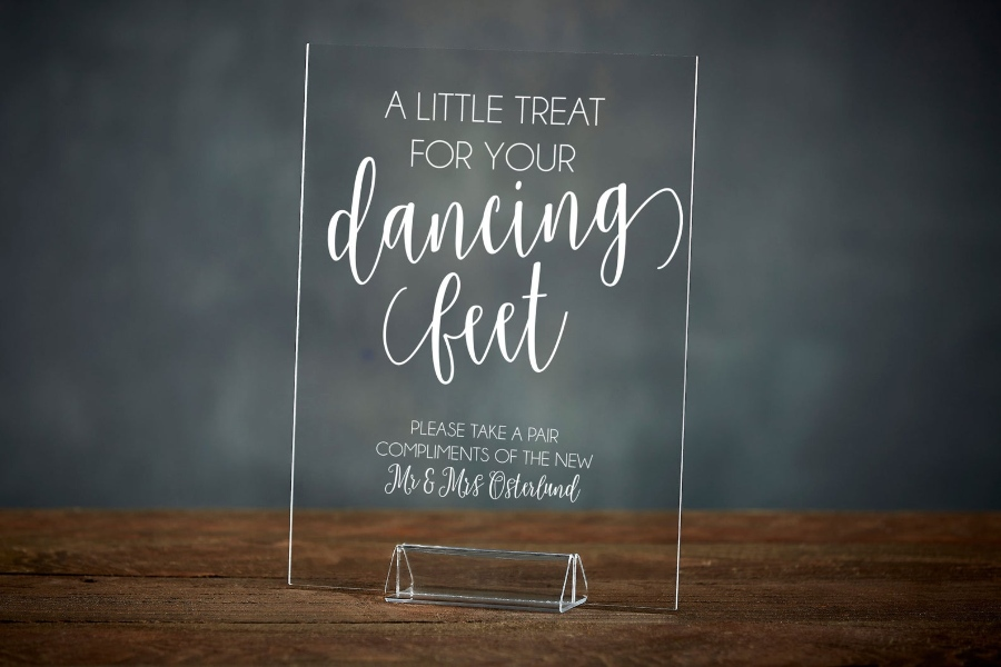 destination wedding signs - dancing shoes