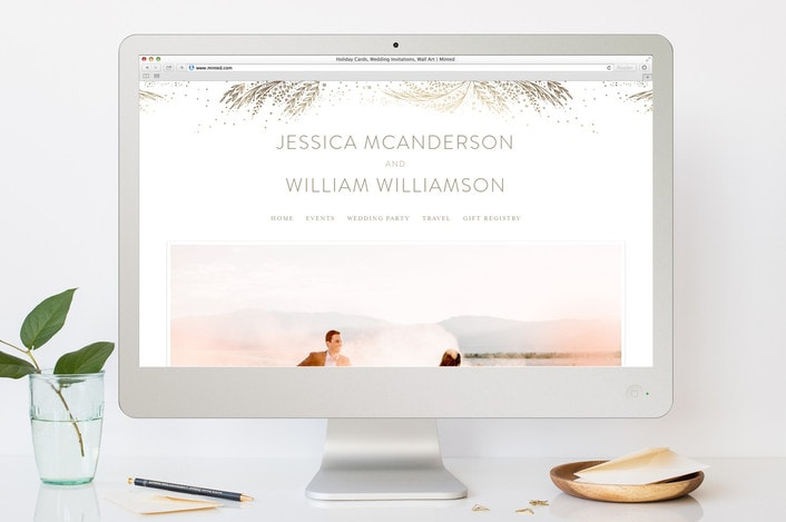 destination wedding website minted