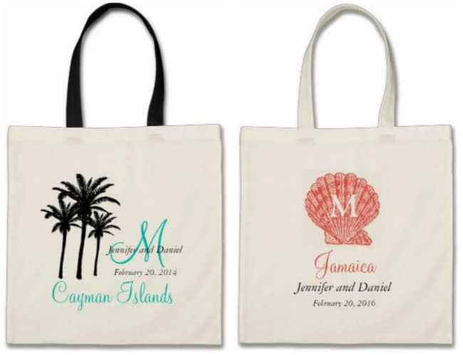 Zazzle has a ton of destination wedding and beach wedding welcome bag ...