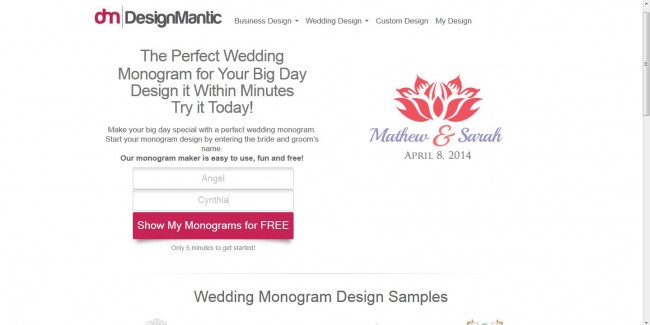 Free Easy DIY Destination Wedding Monograms Destination Wedding