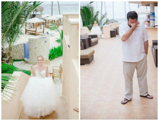 dominican republic wedding first look
