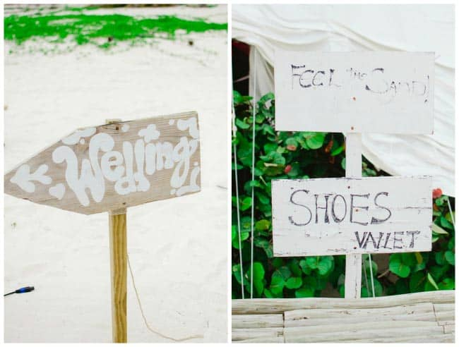 beach wedding signs
