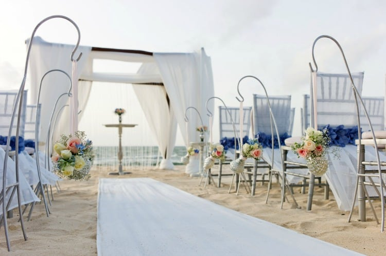 elegant destination beach wedding