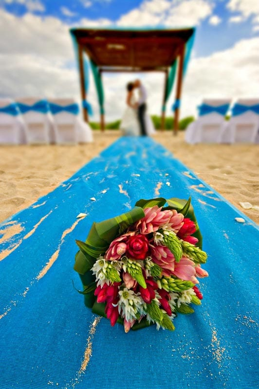 ginger beach wedding bouquets