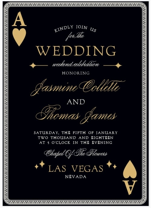 las vegas destination wedding invitation