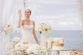 Luxurious Destination Wedding Inspiration with Coconuts and Crystals by the Sea