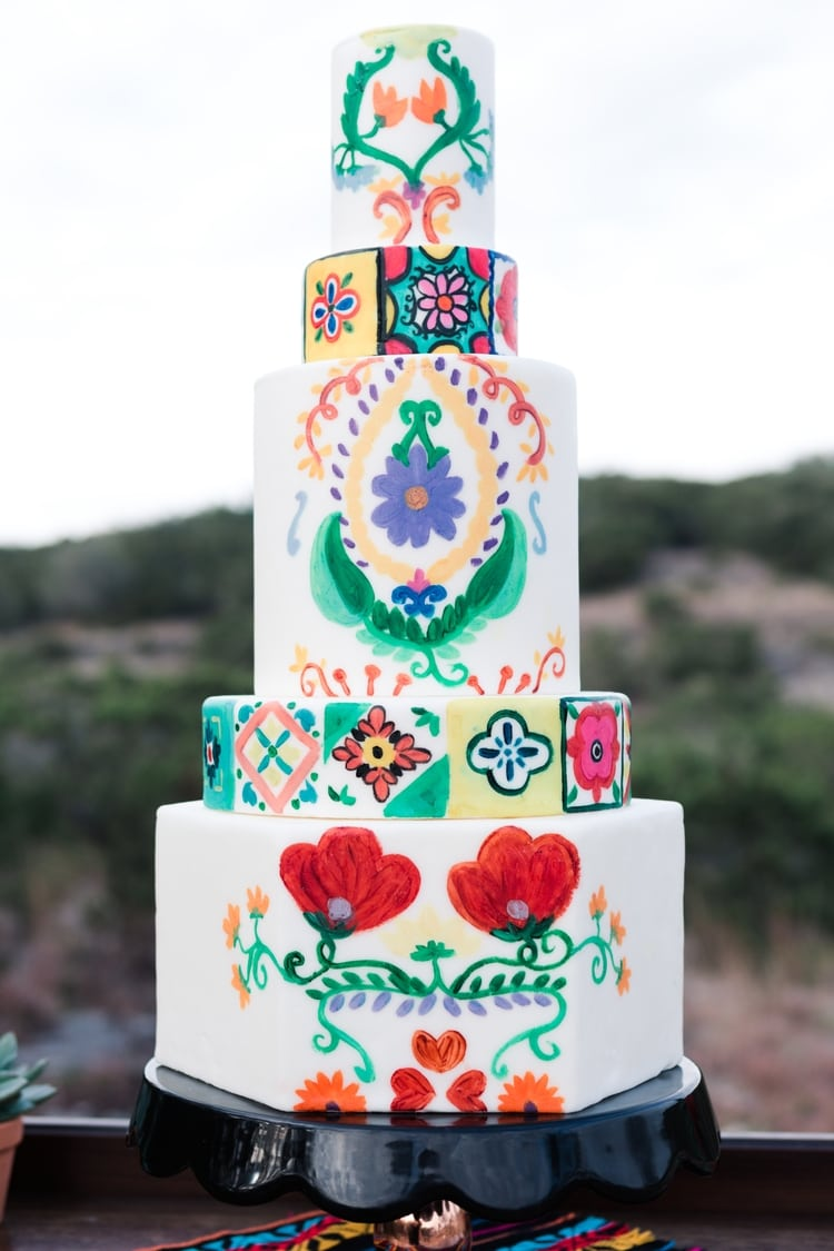 mexican destination wedding cake idea
