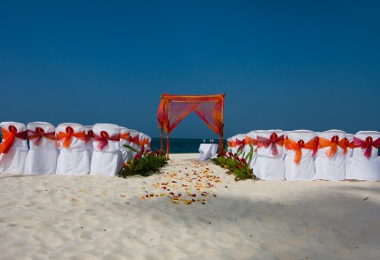 orange beach wedding arch decorations
