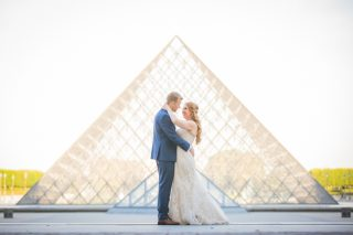 Vintage Travel Themed Paris Wedding