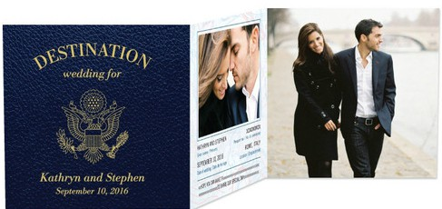 passport destination wedding invitation