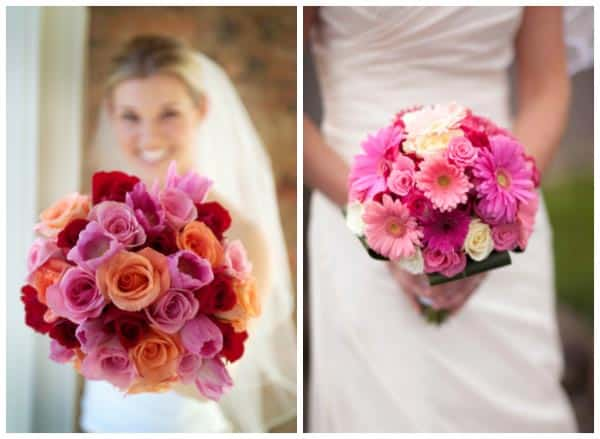 pink beach wedding bouquets