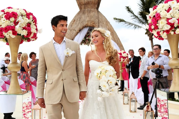 Pink Destination Wedding at Dreams Riviera Cancun