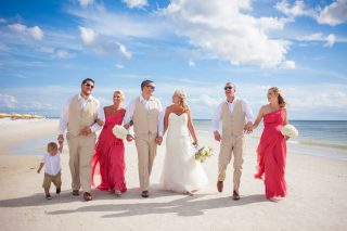 Gorgeous Pink Shell Resort Wedding