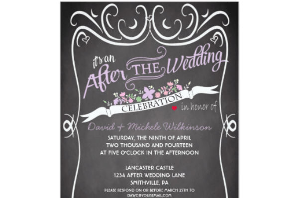 At home reception invitation etiquette – Wedding Party Invite Wording