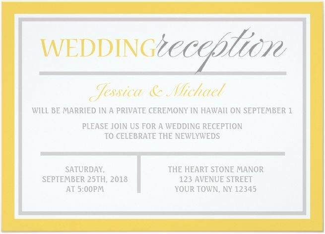 Wedding Welcome Dinner Invitation Wording: 21 Beautiful At Home Wedding Reception Invitations