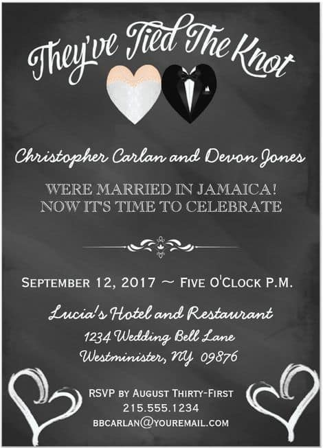 Post Wedding Reception Invitations 19