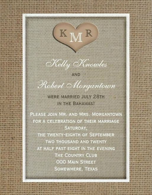 Post Wedding Reception Invitations 2
