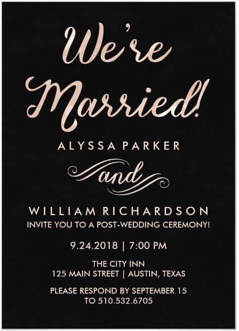 Post Wedding Reception Invitations 7