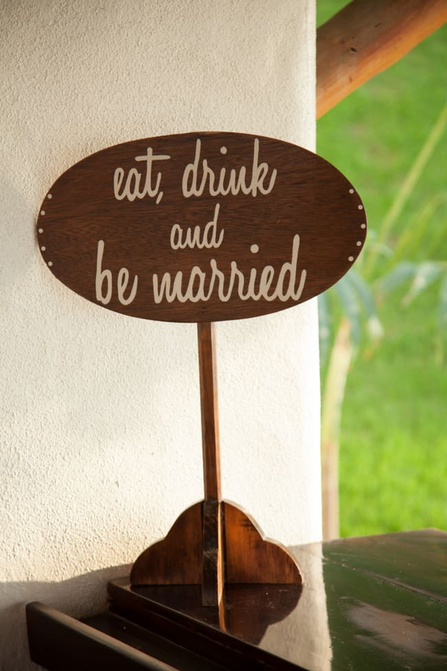 Eat Drink and Be Married Wedding Sign