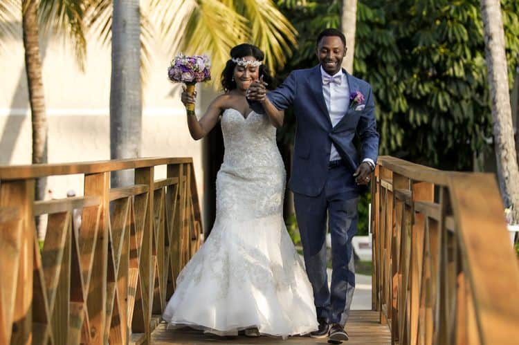purple and gold destination wedding in Punta Cana 12