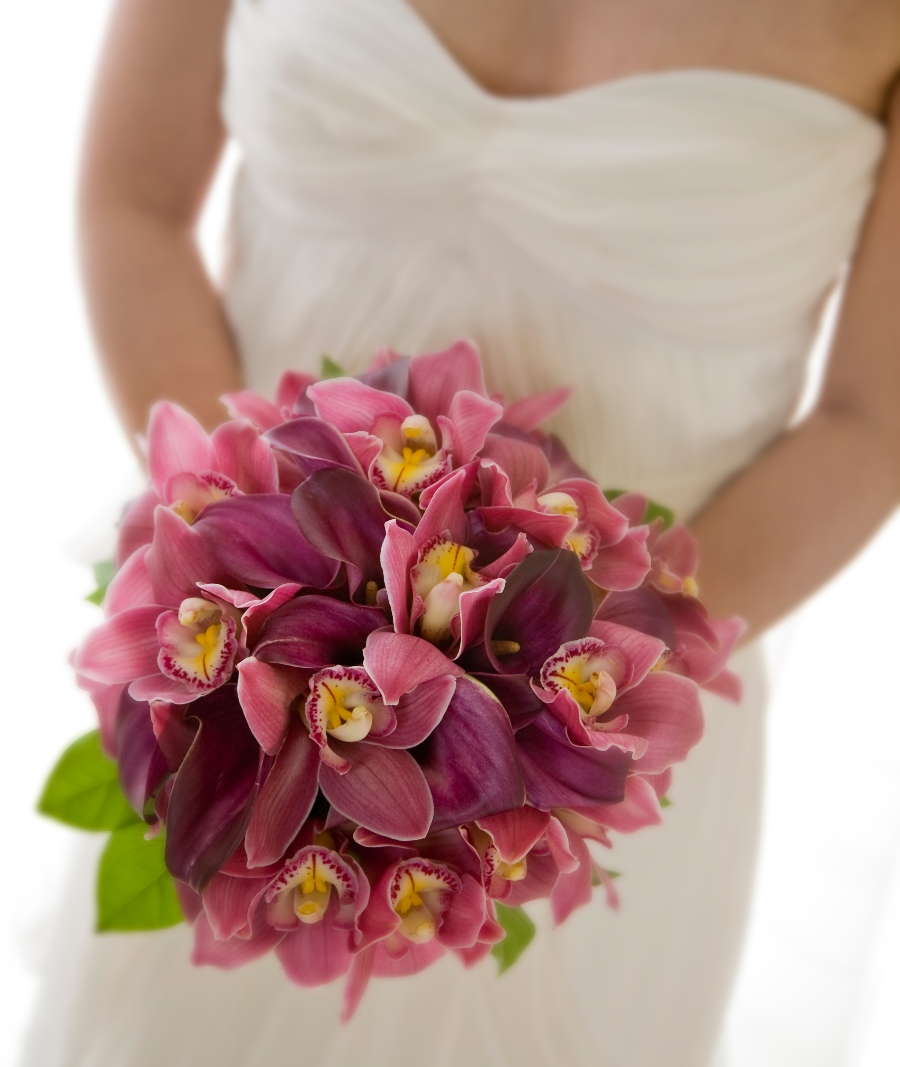 orchid beach wedding bouquets