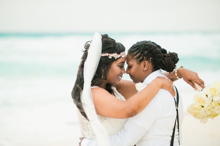 same sex destination wedding in cancun 51
