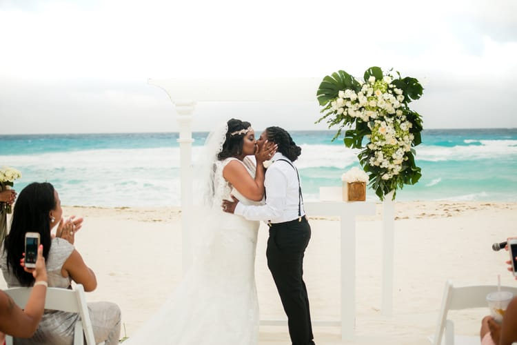 same sex destination wedding in cancun 92