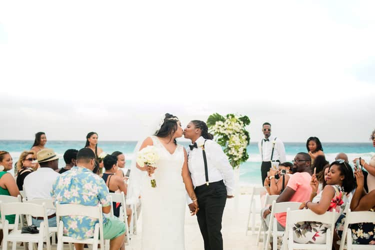 same sex destination wedding in cancun 95